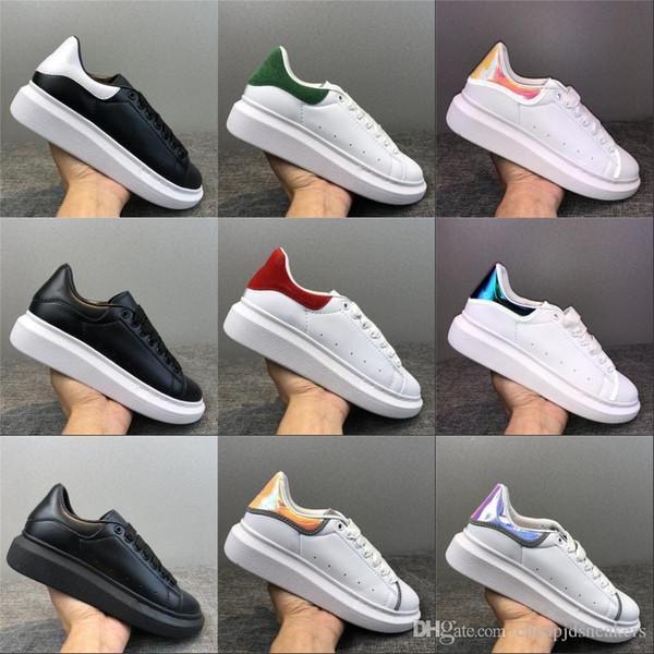 2019 Black Velvet das mulheres dos homens Casual sapatos bonito Platform Casual Sneakers Luxo Designers Sapatos de couro Cores sólidas instrutor