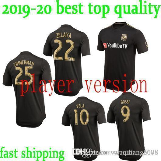 fcbc10b04 MLS Player version Los Angeles FC Home Soccer Jersey 2019  10 VELA Los  Angeles FC