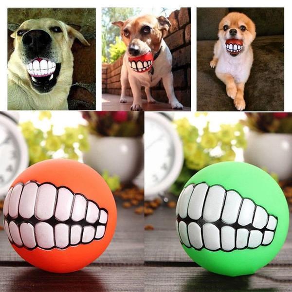 Komik Evcil Köpek Oyuncak Yavru Top Ses Oyuncak Ses Chew Squeaker Getiriliyor Squeak Interaktif Oyuncaklar Evcil Malzemeleri Oyna