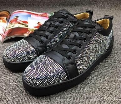 Tasarımcı Kırmızı Alt Erkekler Kadınlar Için Loafer'lar rahat ayakkabılar Hakiki Deri Platformu Sneakers Düğün Parti Flats Erkekler Ayakkabı Üzerinde Kayma plm85