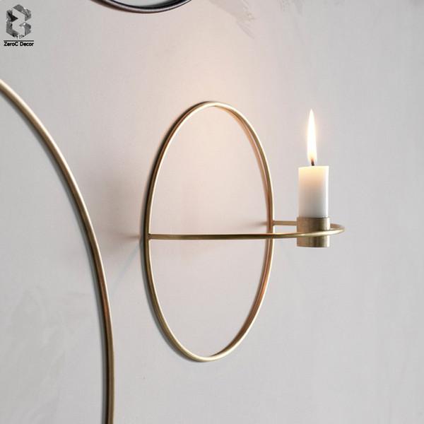 Nordic Kerzenständer Metall Wand Kerzenhalter Moderne Wandleuchte Passende Ornamente Elegante Hochzeit Weihnachtsdekoration