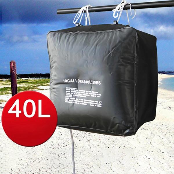 top popular Environmental PVC Material Bag High QualityPortable 40L Solar Heating Hiking Camping Shower Bag Outdoor Washing 2019