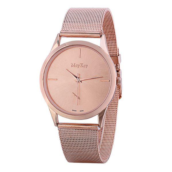 Ihracat patlayıcı saatler kadınların basit moda paslanmaz çelik hasır kemer iş erkek saatler üreticisi doğrudan satış