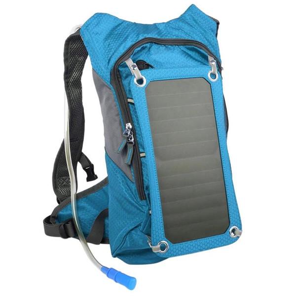Caminhadas Mochila Ombro Duplo Saco Solar Com Painel Solar Removível Multifuncional Para Smart Phones Tablets Gps Bluetooth Um