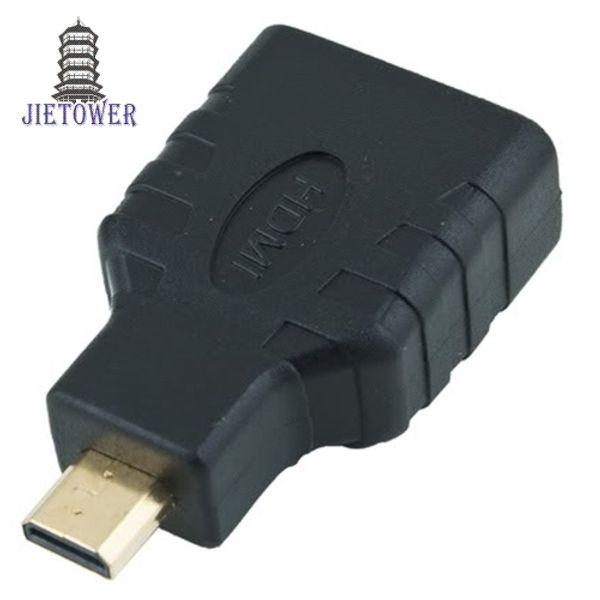 500 шт. / Лот HDMI Женский к Micro HDMI Тип D Мужской Адаптер F / M Коннектор Разъем HD TV Камера для адаптера HDMI