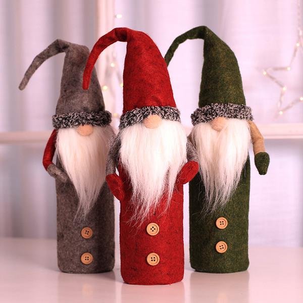 Bottiglia Decorazioni di Natale Rudolph Renna vino titolari protezione della copertura di Natale Natale Capodanno Tabella Dinner Party Decorazione Regali