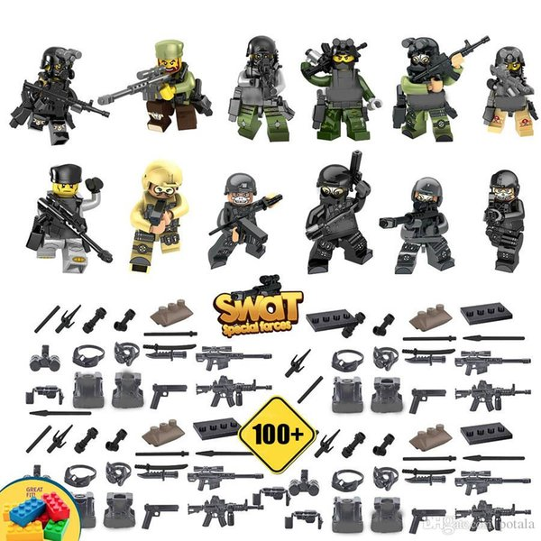 Swat Army soldiers Building Block Puzzle Toys Special force assault Ghost super heroes Terrorist Counter-Strike CS Military specter assault