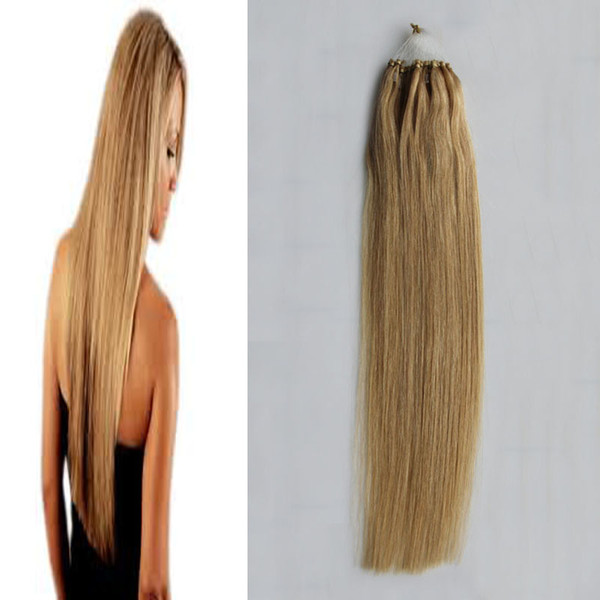 100% Human Hair 1g/Stand Remy Brazilian Straight Tip Hair Loop Micro Ring Human Hair Extensions Micro Bead 100g