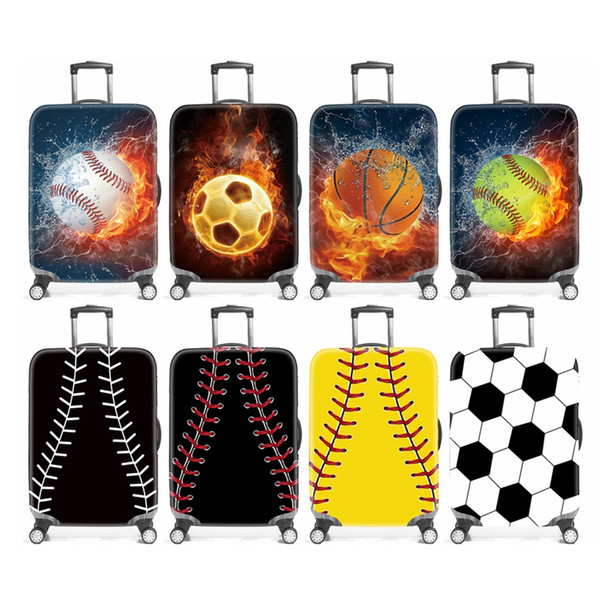 best selling Dustproof Suitcase Sleeve Practical Wear Resisting Travel Luggage Cover Fashion Ball Print Suitcase Protective Sleeve Hangbag TTA1665