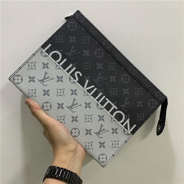Debriyaj Lüks Debriyaj Çanta Mens Tasarımcısı Debriyaj Çanta Tasarımcı çanta Cüzdan Erkekler Uzun Cüzdan Tasarımcı Lüks Çantalar Cüzdanlar 154-84 8/72 039