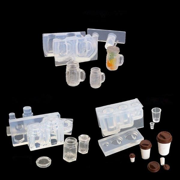 Venta al por mayor de Accesorios Herramientas de joyería Equipos Beber Botella Taza de café Tarro de miel Resina Moldes de silicona Moldes de la resina epoxi Herramientas de joyería