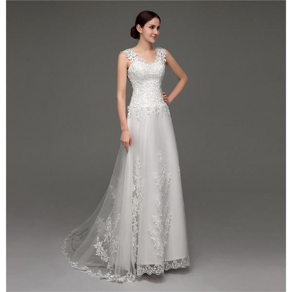 Verão simples vestido de noiva com decote em v sem encosto sexy praia vestido de noiva branco barato marfim tule vestido de noiva boho além de tamanhos