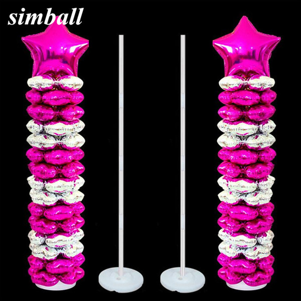 2sets Balloons Column Stand Kits Arch Stand With Frame Base And Pole Wedding Birthday Party Decor Balloons Accessories Supplies Y19061502