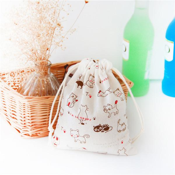 3pcs Eco Friendly Bag Travel bag cotton linen fabric dust cloth Clothes socks/underwear shoes kids toy storage