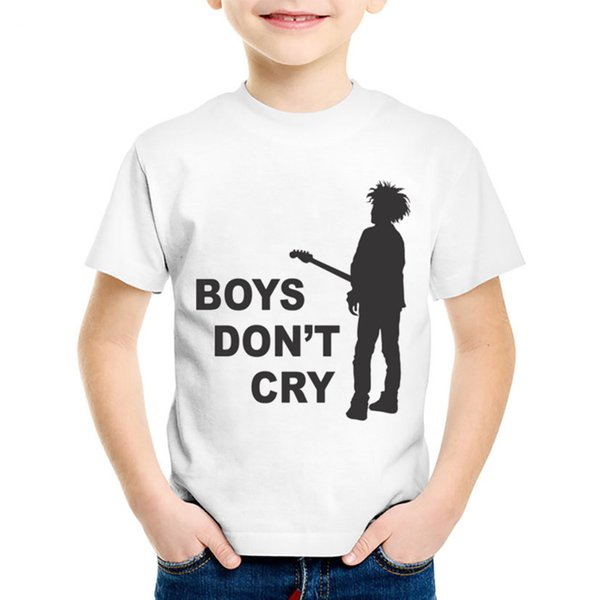 Fashion Print The Cure Boys Do Not Cry Children T-shirts Kids Rock Roll Summer Tees Boys/Girls Casual Tops Baby Clothing,HKP630