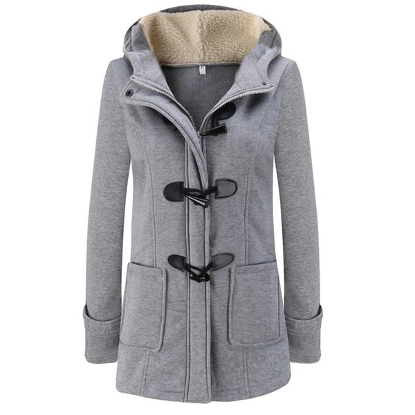 Parka Donna Inverno Lungo Cappotti spessi Cotone Solid Zipper Casual Donna con cappuccio Warm Outwear Plus Size Giacca Mujer