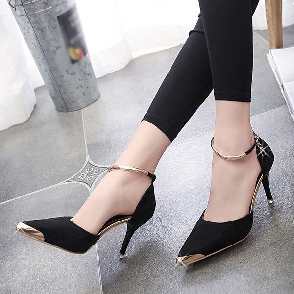 Designer Dress Shoes 2019 Summer Women Pompe a punta Abito donna tacco alto 2019 Matrimonio tenis feminino