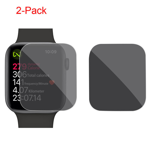 2pc For Apple Watch Series 4 40/44mm Privacy Anti-spy Tpu Film Screen Protector Protective