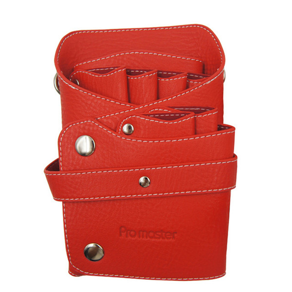 Hair Style Tools Leather Barber Scissor Bag Salon Hairdressing Holster Pouch Case with Waist Shoulder Belt Peluqueria