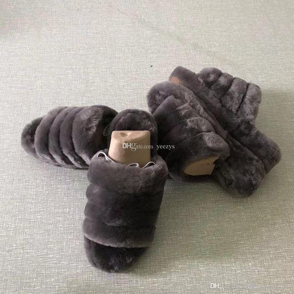 2020 Tasarımcı Ayakkabı Avustralya Fluff Evet Slayt Tasarımcı Kürklü Slaytlar Kürk Terlik Günlük Ayakkabılar Botlar Kış Patlamalar