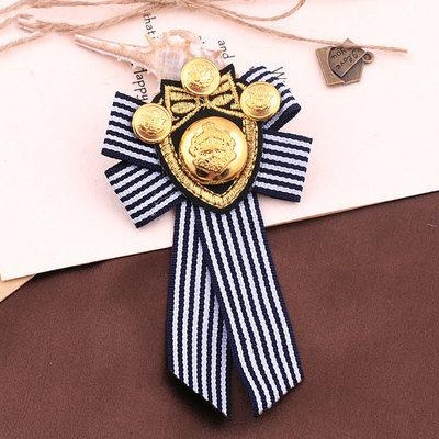 College Badge Brooch Anchor Fabric Embroidered Epaulet Medal Military Suit Pins