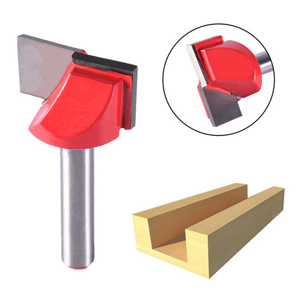 """1/4"""" Router CNC Engraving Woodworking Bottom Cleaning Router Bit Head Milling Cutter CNC Woodworking Tool Bit 6x22mm"""