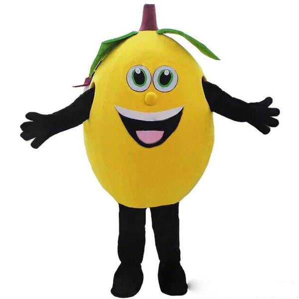 Özelleştirilmiş sarı limon maskot kostümleri meyve maskot kostümleri Cadılar Bayramı Kostümleri Chirstmas Parti Yetişkin Boyutu Fantezi Elbise