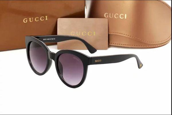 2019 high quality classic aviator sunglasses designer brand men's and women's sunglasses gold green 55 mm 60 mm glass lenses brown case