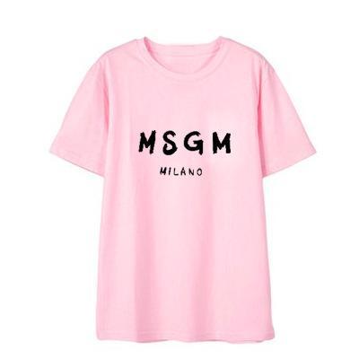 Mens Designer T Shirt Da Moda Carta MSGM Tees Casual Padrão de Manga Curta Tendência Solta Tops para Casal Mulheres 2019 Verão Novo 10 Cores