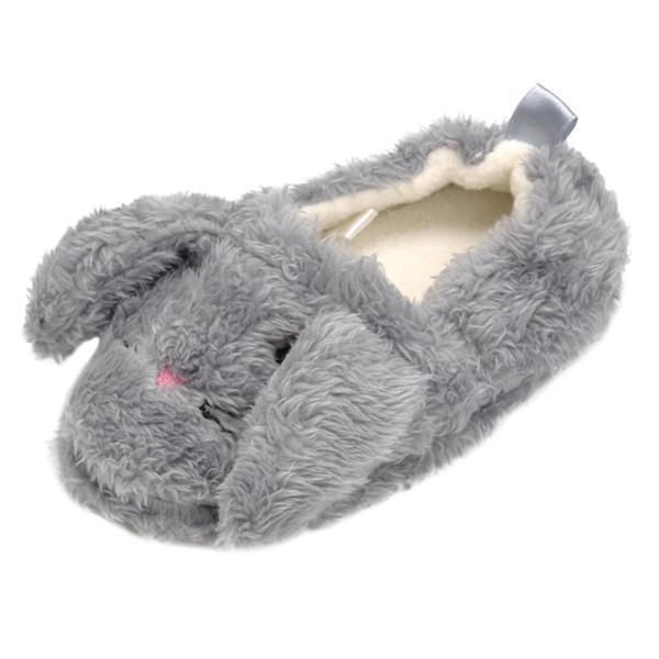Kid Baby Boys Девушки Мультфильм Животных Крытый Теплая Тапочка Мягкой Подошвой Повседневная Обувь Baby Boy Девушки Милый Кролик Теплые Зимние Ботинки