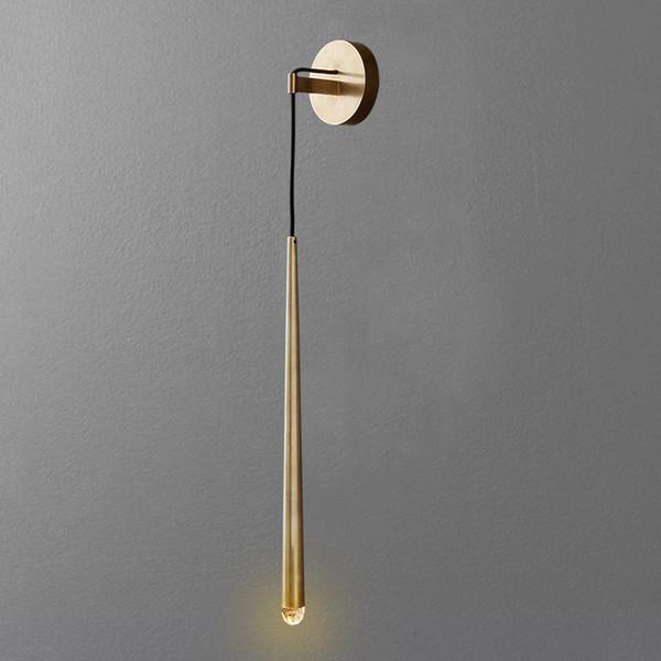 Post-moderno luce lusso soggiorno camera da letto comodino tutti rame lampada semplice stanza del campione nordico lampada da parete di Villa Hotel
