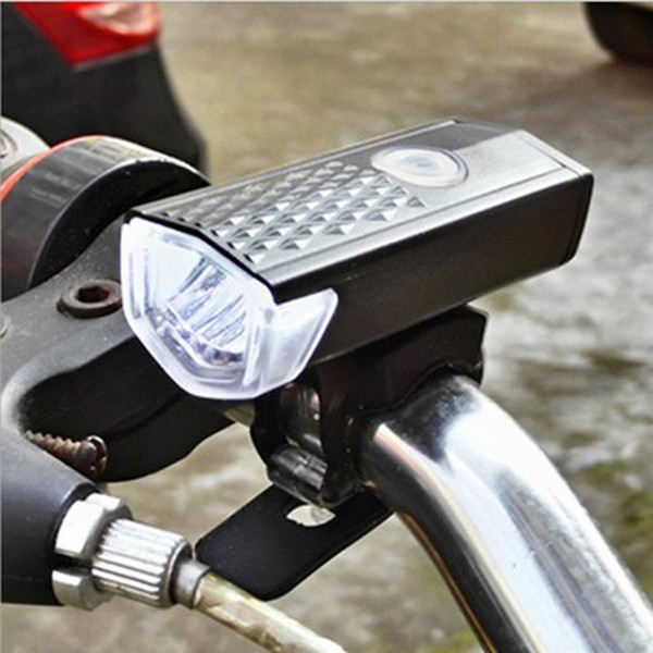 New Superbright USB Rechargeable XPE 3W LED LED Bike Bicycle Cycling Front Light Headlihgt Lamp Torch with Rubber Strap MUQGEW #79007