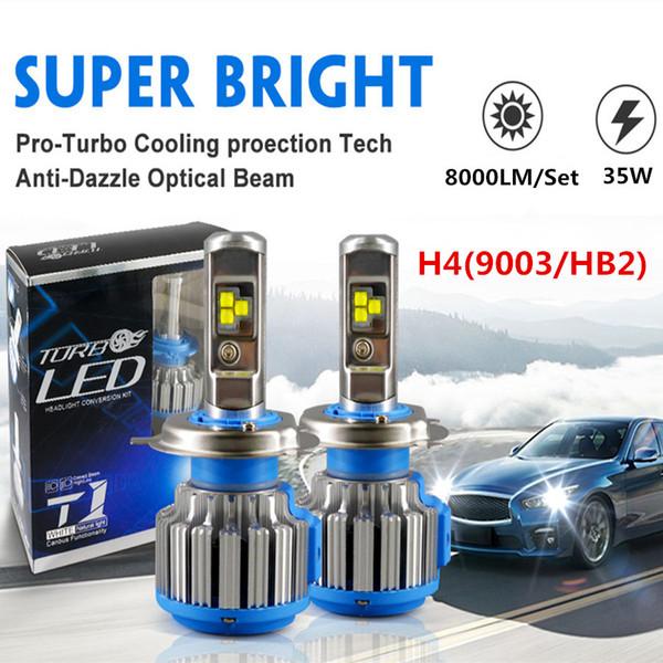 2 PCS Turbo LEVOU H7 H4 Hi / Feixe Lo 70 W 8000LM Farol H1 H11 9005 HB3 9006 HB4 H13 H3 9007 880 H27 9012 T1 Luzes de Nevoeiro Estilo Do Carro