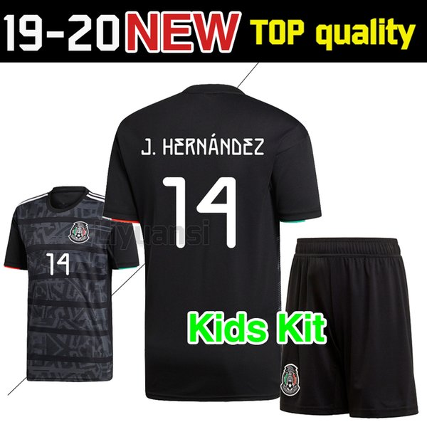 8952b2432d6 Kids kits 2019 Gold Cup Mexico Soccer Jersey Home black 19 20 CHICHARITO H.  LOZANO