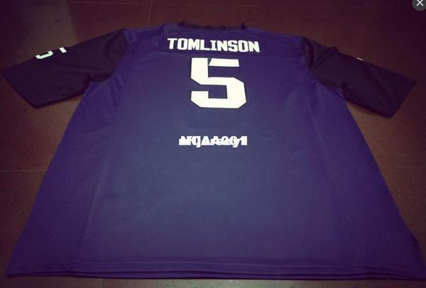 Günstige Männer # 5 Top-Qualität Lila LaDainian Tomlinson TCU Gehörnte Frösche Alumni College Jersey oder benutzerdefinierte beliebiger Name oder Nummer Jersey NCAA