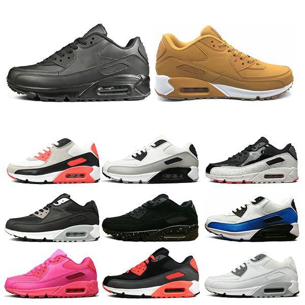 Nike Air Max 90 Diseñador Triple Blanco Negro Amarillo Para Hombre Para Mujer Zapatos Para Correr Gris Rosa Para Hombre Entrenadores Cojín Superficie