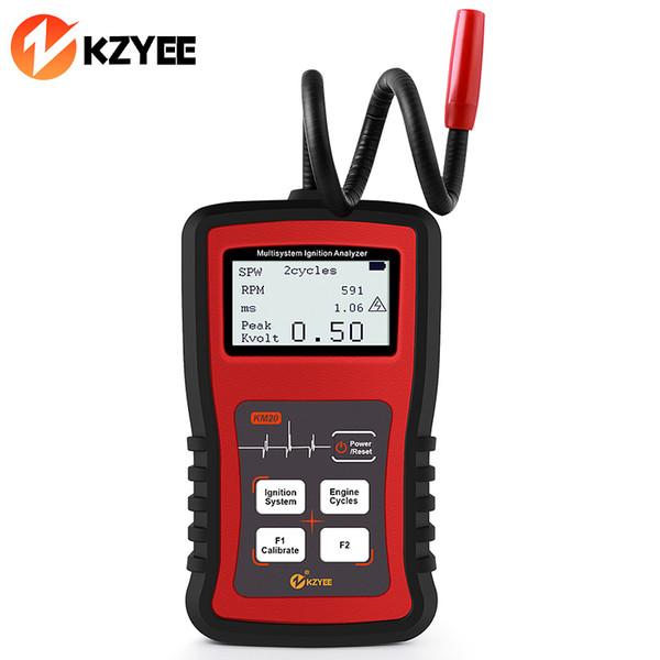 KZYEE KM20 Prueba de Bujía Automática Analizador de Encendido Probador de Bujía de Coche Encendido Motor de Automóvil Encendido Analizador de Señal de Pulso