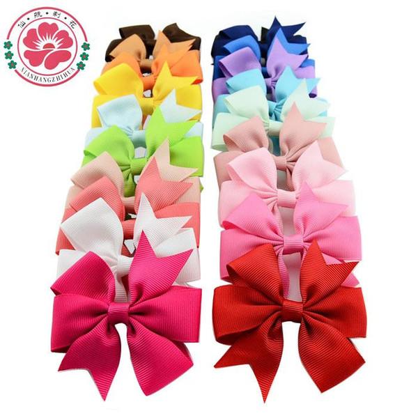 Firkete Kore Sevimli Tokalar Gig Bow Saç Klip Toptan Pembe / Kırmızı / Mavi 40 renkler Saç takı