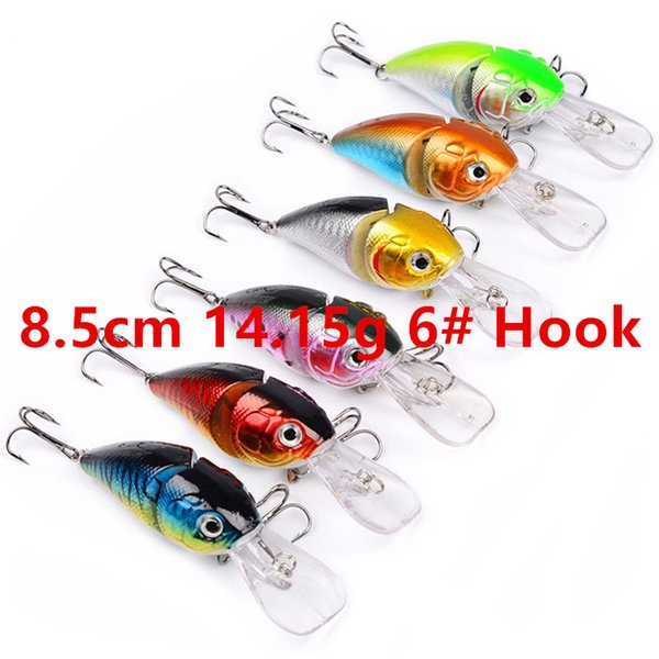 8.5cm 14.15g 6# Hook