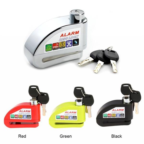 Universal Moto Motorcycle Alarm Lock Disc Lock Scooter Bicycle Disc Brake Security Anti-theft Alarm with 3 Keys #233945