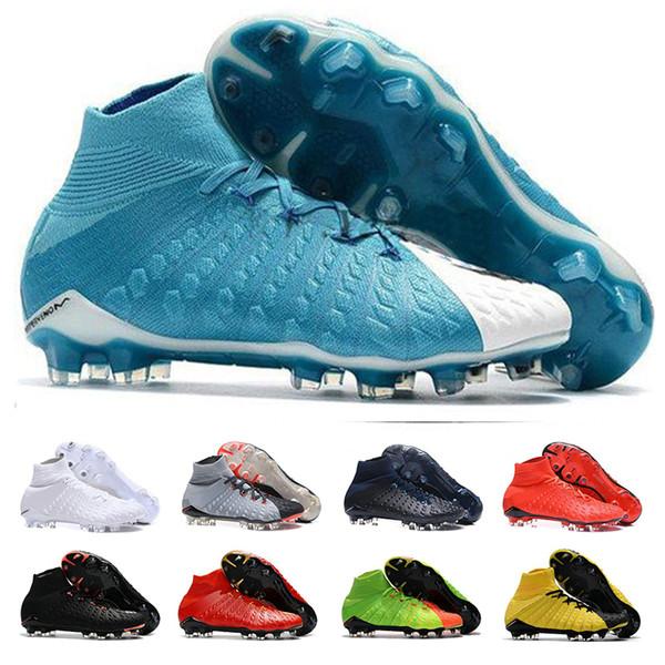Chaussures de soccer pour hommes Chaussures à crampons Hypervenom Phantom III Chaussures de football au sol Soft FG EA Sports FG Rising Fast Pack Neymar