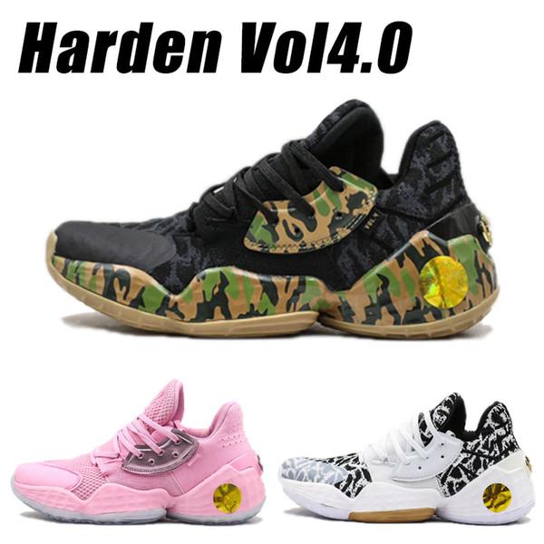 Harden Vol 4.0 Kissen Laufschuhe Camouflage Weiß Rosa 2019 Designer-Schuhe Mans Sportschuh Mode Jogging Trainer High Quality