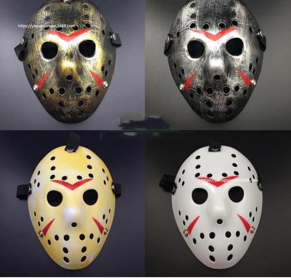 Elegante Jason Voorhees sexta-feira o hóquei Horror 13 Máscara Scary Halloween máscara máscaras partido da máscara Festival partido do disfarce