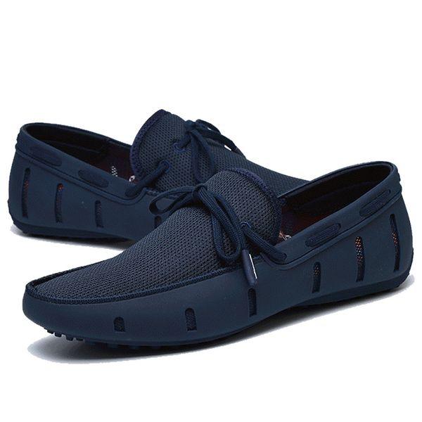 Chaude Vente-Hommes Casual Chaussures D'été Respirant Doux Conduite Conduite Pour Hommes À La Main Chaussure Homme Net Surface Mocassins D50