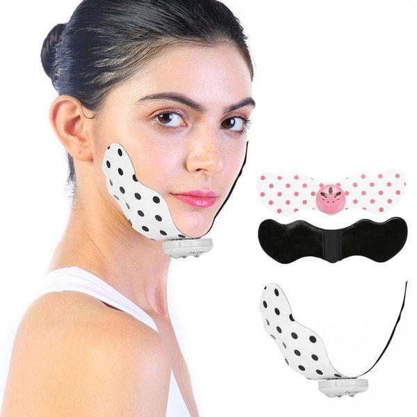 Electric Mini Silicone Slimming Pad Belt Lifting Adjustable Firming Pads Point Massage Patch Lose Weight Fat V Face Lift
