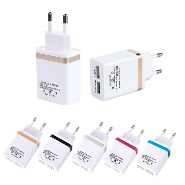 Dual usb color side mobile phone charger is applicable for apple android mobile phone intelligent travel charger