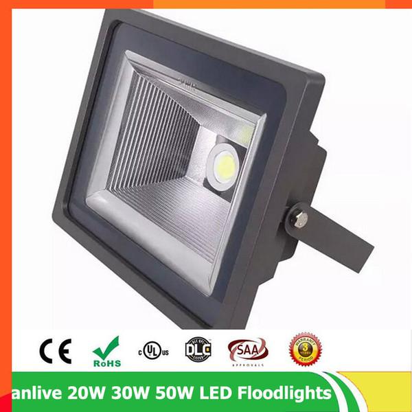 4 adet / grup Işıklandırmalı 10 W 20 W 30 W 50 W AC85-265V Projektörler Arama Lambası IP65 Reflektör Foco Led Dış Açık Spot Işık
