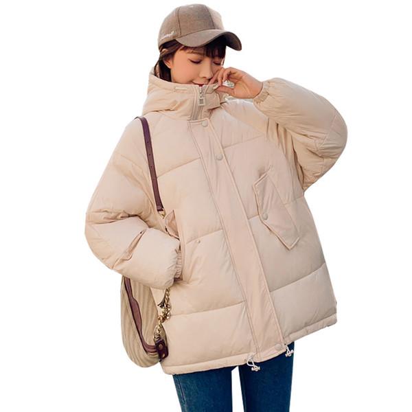 FASHION- 2019 Taille Mode plus 2XL Doudounes Femmes d'hiver Jas court Épaissir chaud Jas Basse Katoon Coated