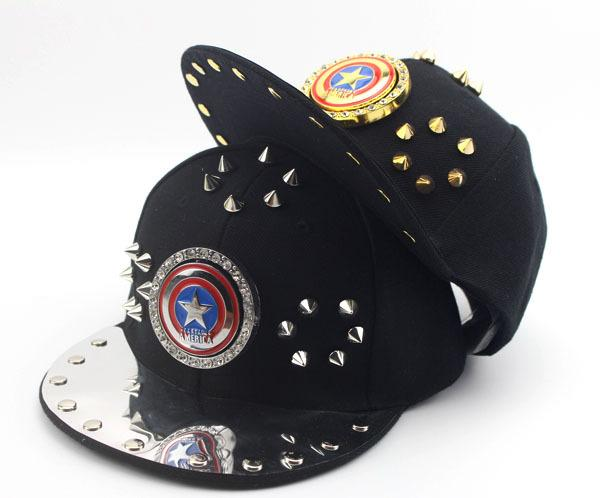 2019 captain america kinder snapback punk rock cap kinder baseball caps flache hut jungen mädchen gorras chapeau mesh hüte 50 bis 54 cm e878