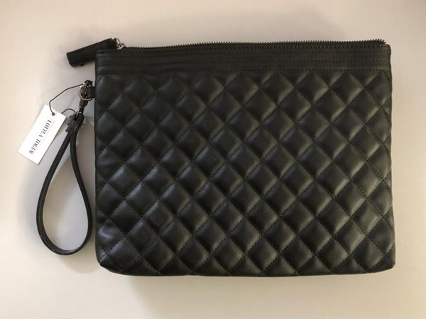 Black 30CM rectangular handbag women travel makeup bag new designer high quality men wash bag famous brand cosmetic bags